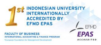 BINUS INTERNATIONAL's Accounting & Finance Program awarded EFMD EPAS Accreditation