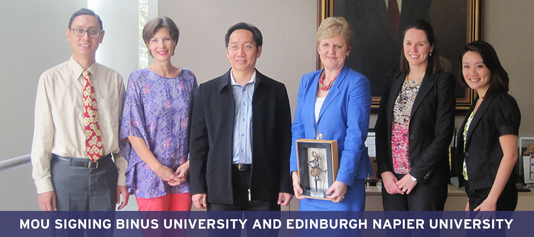 MoU Signing BINUS UNIVERSITY and Edinburgh Napier University