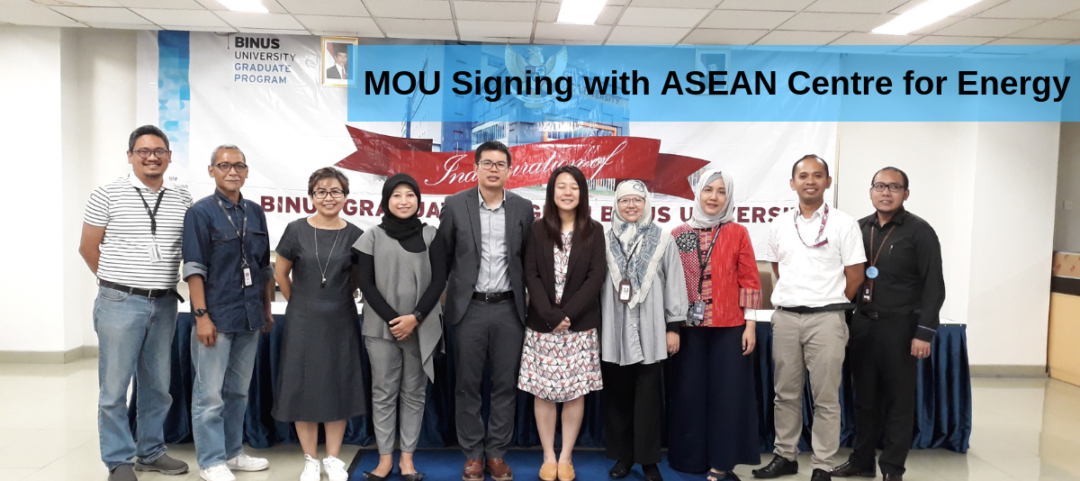 MoU Signing with ASEAN Centre for Energy