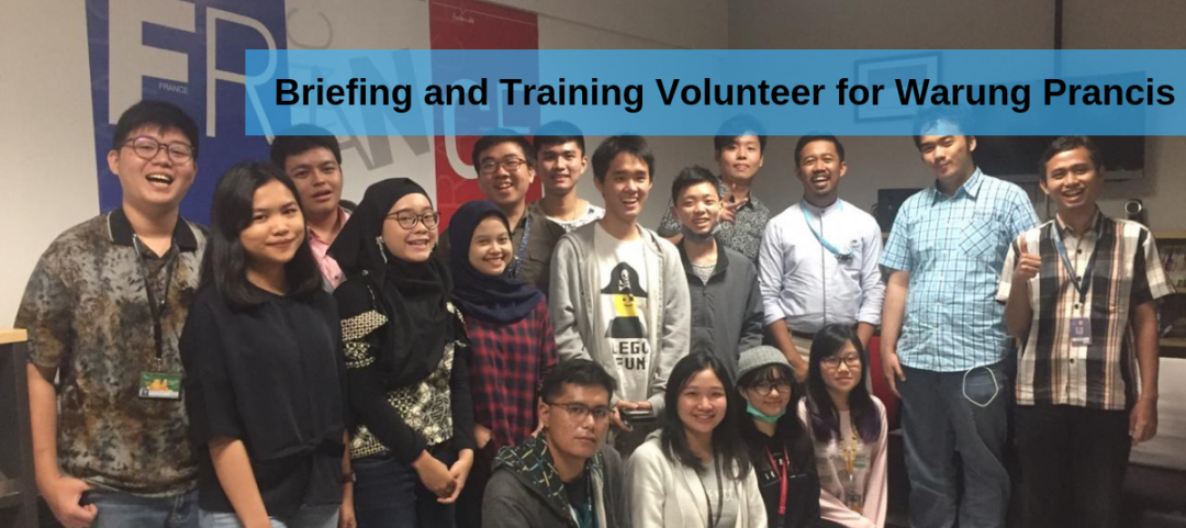 Briefing and Training Volunteer for Warung Prancis